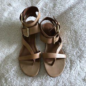 Franco Sarto Glinda Sandal • Nude Gladiator Sandal